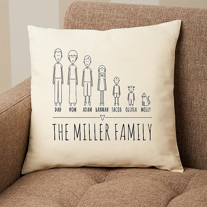Personal Creations Cast Of Characters Family Pillow For Gift