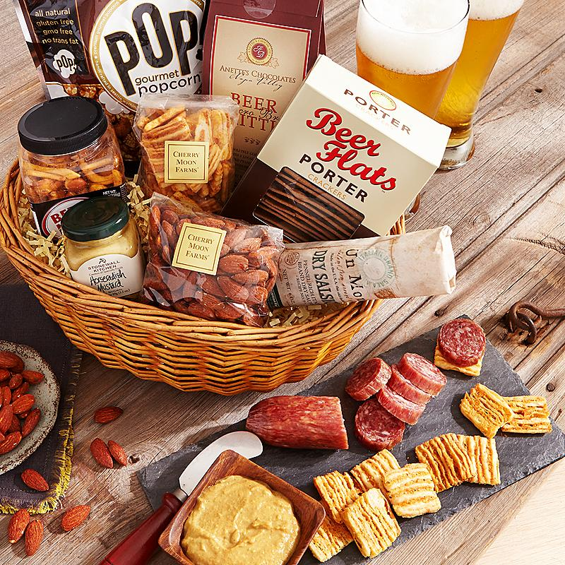 Gift Idea  Beer Basket Includes smoked Landjager German salami and Others & Gift Idea : Beer Basket Includes smoked Landjager German salami and ...
