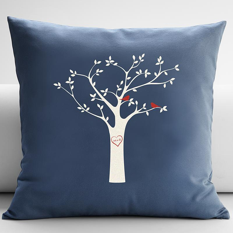 Photo Throw Pillow Gifts : Tree Initials Throw Pillow Gift Ideas ? Holiday Gifts Guide