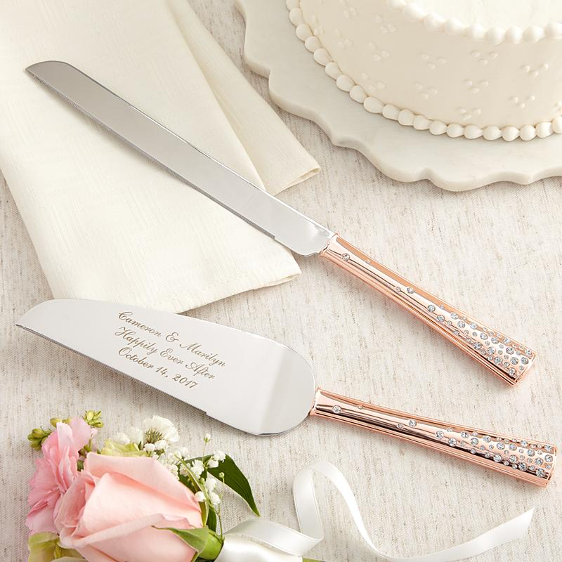 rose gold wedding cake knife set gold cake knife serving set gift ideas 19289